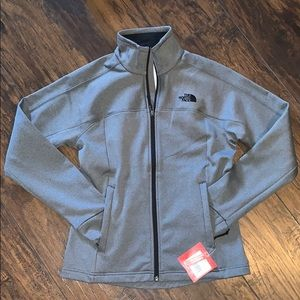 The north face full zip gray jacket size small.